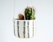 Ceramic hanging planter for succulent, Ceramic hanging plant pot, Ceramics and pottery, Pottery hanging planter, Cacti planter, Ceramics