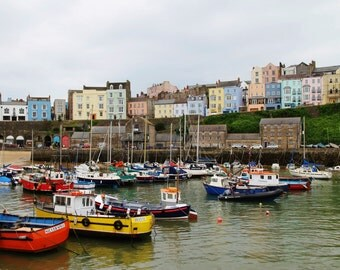 Tenby Harbour Wales Fine Art Photographic Blank Greetings Card