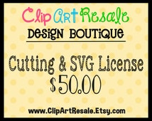 Cutting & SVG License  - One time fee!  BONUS 20.00 worth of FREE clip art
