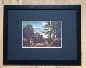 """Framed and Mounted A Country Lane Print by John Constable 16"""" x 12"""""""