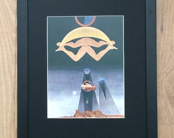 Mounted and Framed This Men Shall Know Nothing by Max Ernst - 12''x 16' - wall art