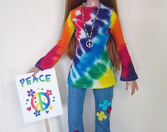 PEACE -  Four-piece 1960s Retro Outfit for Ellowyne Wilde