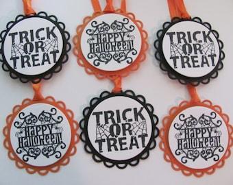 Happy Halloween Tags, Halloween Favor Tags, Hang Tags, Trick or Treat Favor Tags, Trick or Treat,Happy Halloween Gift Tags, Jar Gift Tags