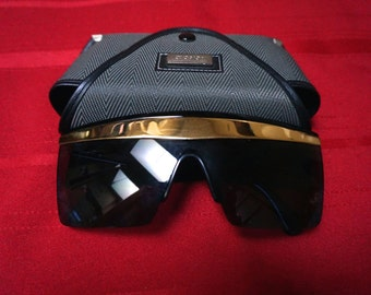 VINTAGE VERSACE SUNGLASSES, with original Versace case, 1980's, never used.