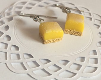 Lemon square earrings