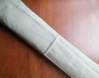 On Sale Antique hemp plain linen roll burlap runner cushion rustic decor 6.12 y 26 wide extra wide