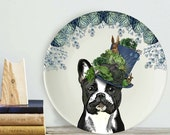 French Bulldog Plate French Bulldog gift Bone china plate decorative plate unique wedding gift china anniversary gift for frenchie lover