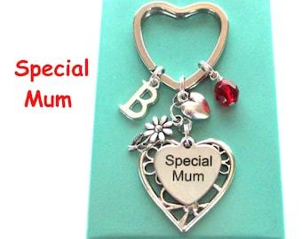 Special Mum keyring - Gift for Mum - Daisy keyring - Personalised Mother's Day gift - Mum gift - Birthstone keyring - Etsy UK