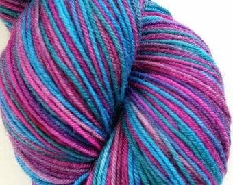 Hand Dyed Superwash Merino/Nylon Fingerling Yarn