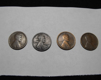Lincoln Head Cents, lot of 4: 1909, 1917D, 1927S (2)