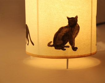 Table lamp:  BLACK CATS