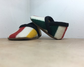 Baby Shoes Made From Pendleton® Wool -  Baby Shoes - Soft Sole Shoe