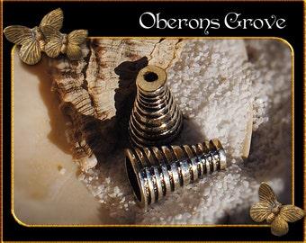 10 cone bead caps 16x10mm silver