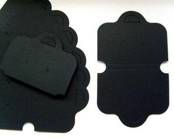 100 x Black Plain Blank Necklace Bracelet Earring Set Display Cards
