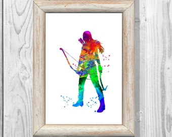 Tomb Raider Poster Lara Croft Poster Watercolor Print Game Poster Art Giclee Wall Illustration Art Print Wall Decor Instant Digital Download