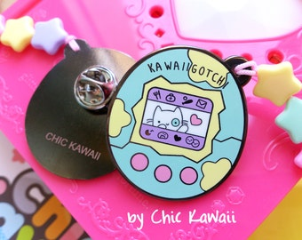 Enamel pin kawaii Tamagotchi pins badge lovely cat stars