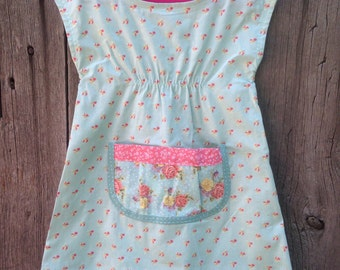 Size 3 toddler farmhouse dress pockets floral