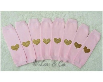 Baby Leg Warmers, Girls Leg Warmers, Pink and Gold Birthday Outfit, Pink and Gold Leg Warmers, Leggings, Toddler Leg Warmers, Liv & Co.™