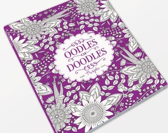 Art Colour Therapy, Adult anti-stress, mindfulness colouring book - The Purple One
