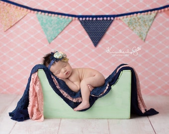 Baby Toddler Photography Prop Wooden Bench or Ottoman