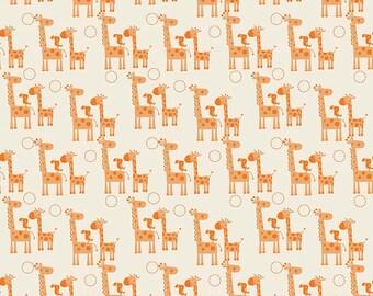 Giraffe Crossing 2 Giraffes Orange C6151-Orange by Riley Blake Designers for Riley Blake Designs