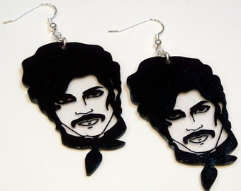 Graphic Prince statement earrings