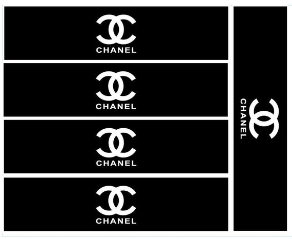 CHANEL Themed Water Bottle Labels by MayoDesignCo on Etsy