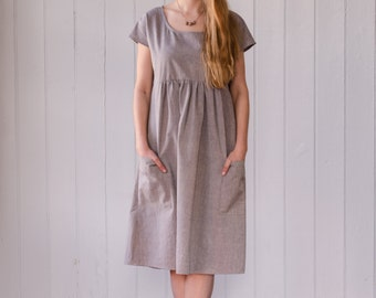 Organic Cotton Smock Dress