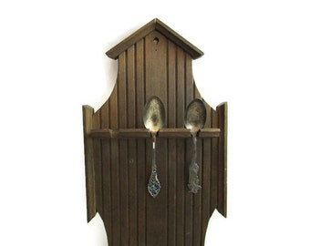 Vintage Wooden Spoon Display Rack