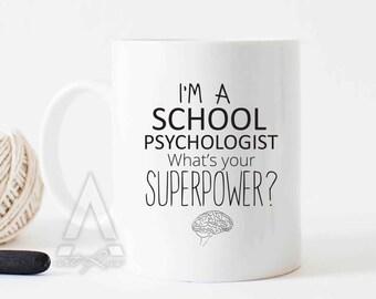 christmas gifts for school psychologists, gifts under 20, gifts for him, gifts for psychologist, psychology gifts, psychology mug MU341