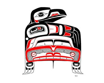 1979 Don Yeomans Rare Serigraph Print Raven in the 20th Century Northwest Native Haida Art