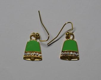 Green Bell Earrings