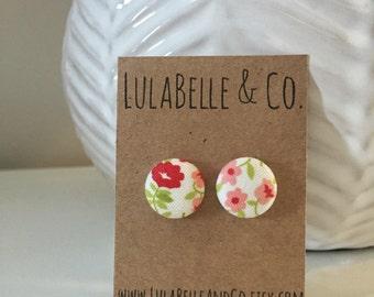 Summer Blossoms Button Earring