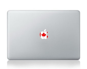 "Flag of Canada with apple logo Macbook Air/Pro 13"" Removable Sticker"