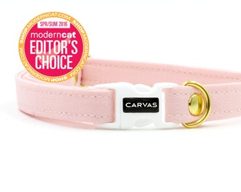 Soft Pink Cat Collar with Breakaway Safety Buckle - Kitten Size Available