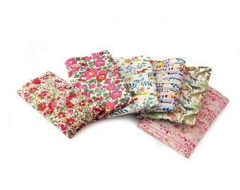Phone case Liberty fabric with popper