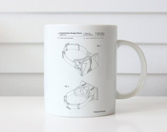 Oculus Rift Patent Mug, Gamer Gift, Game Room Mug, Virtual Reality, Teen Gift, PP0279