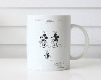 Mickey Mouse 1929 Patent Mug, Disney Mug, Vintage Mickey Mouse, Mickey Mouse Mug, PP0191
