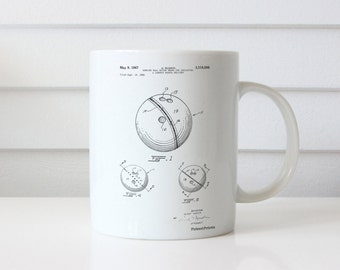 Bowling Ball 1991 Patent Mug, Bowling Alley, Bowling Decorations, Sports Gift, PP0656