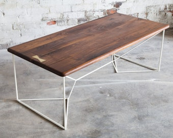 Brass Coffee Table, Coffee Table, Brass Accent , Geometric, Metallic, Gold  Coffee