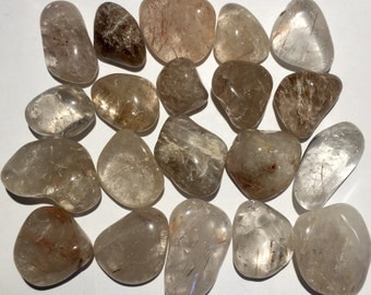 20pc 55g Polished Rutilated Quartz Set  - Brazil - Item:Q160163