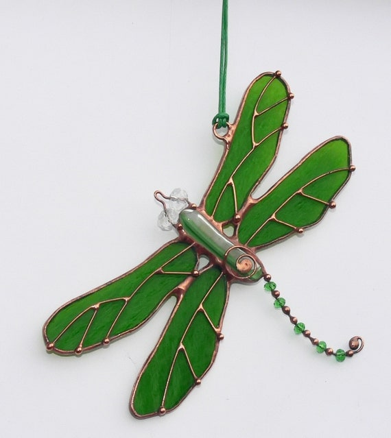 Stained Glass Suncatcher Dragonfly Glass Art Home Decor Gift