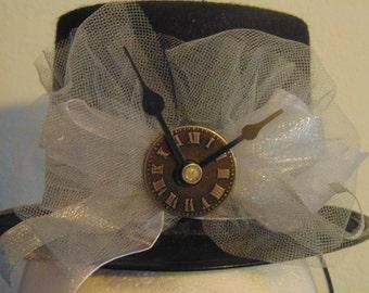 Steampunk Gothic Mini Top Hat