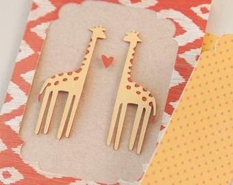 Giraffe Card and Envelope