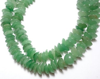 Natural green Aventurine - half Balls - green Aventurine Beads - stone bead caps - 10mm - 15inch