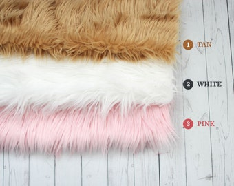 "CLEARANCE- 18""x20"" Faux Fur, Newborn Photo Prop, Fur rug, Basket Filler, Faux Fur Fabric, Basket Stuffer, Backdrop Ready to ship RTS"
