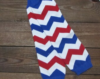 Red, White and blue Chevron Leg Warmers