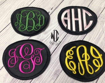 "Monogrammed Patch, Monogram Patch, Personalized Patch, cutsom patch, your choice of colors -  3.5"".  Iron-on patch , Embroidered"