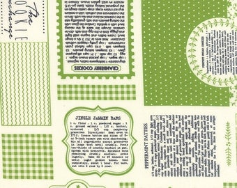 Cookie Exchange Mix Measure Stir Green by Sweetwater for Moda, 1/2 yard, 5620-17