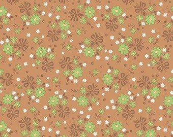 Calico Days Main Nutmeg by Lori Holt of Bee in My Bonnet for Riley Blake, 1/2 yard, C6030-Nutmeg
